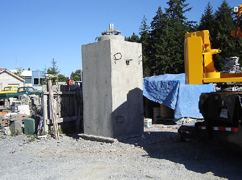 Precast Concrete Pole Bases : Light pole bases mackay precast products