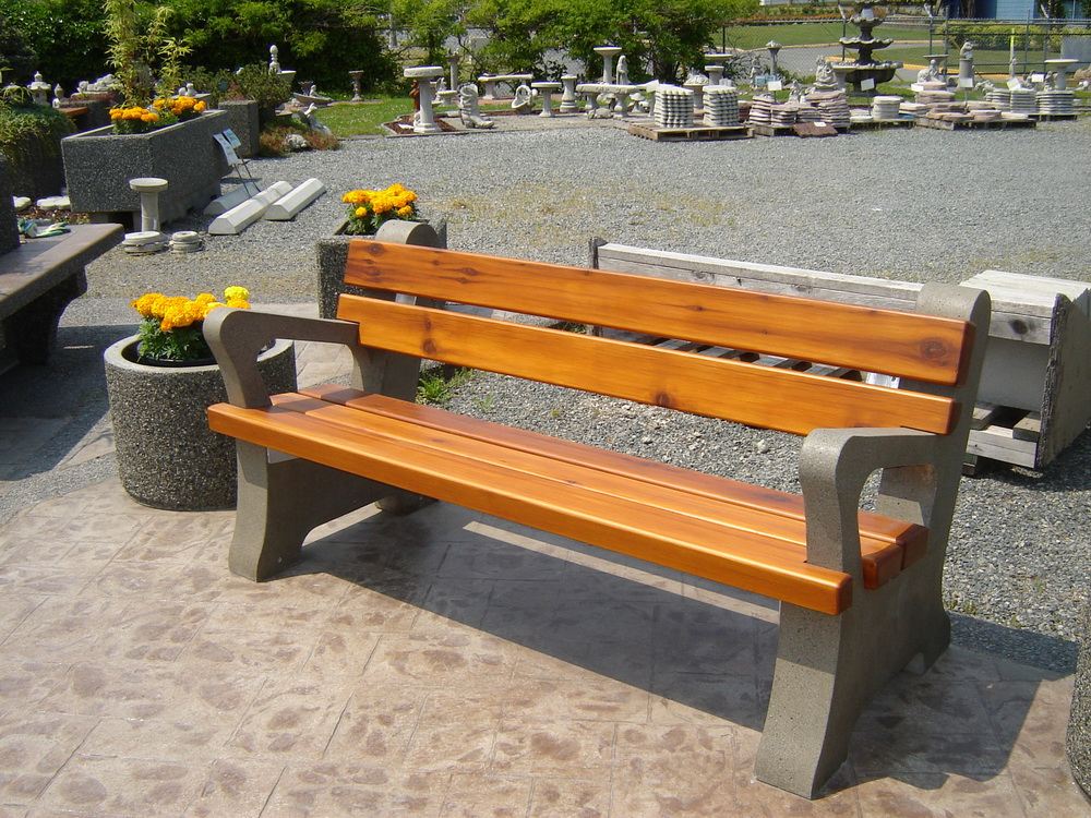 Park Bench With Arm Rests Mackay Precast Products