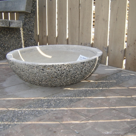 Rectangular Planter With Straight Sides Exposed Aggregate Concrete Mackay