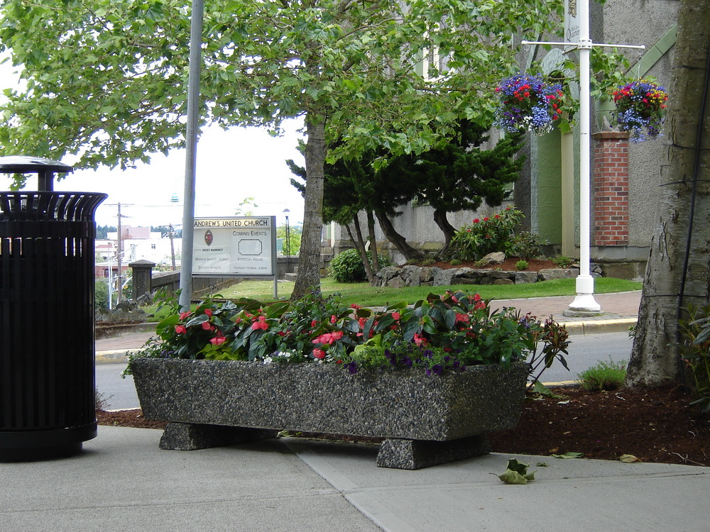 Rectangular Planter With Tapered Sides Exposed Aggregate Concrete Mackay
