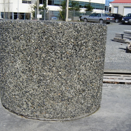 Rectangular Planter With Tapered Sides Exposed Aggregate