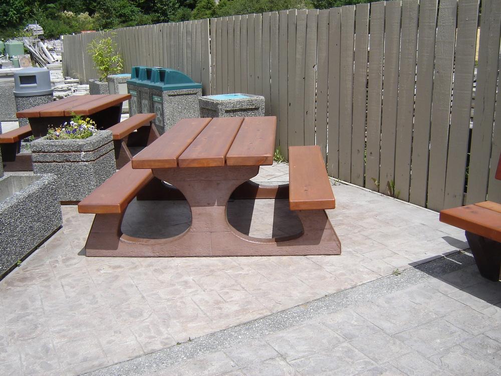 Precast Concrete Brackets : Rustic style picnic table standard mackay precast products